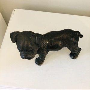 Vintage Accents - Vintage very heavy cast iron dog figures